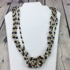 5/$25 Boho chic multi layered knot bead necklace